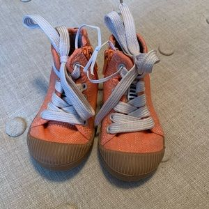 Cat & Jack Shoes - NWOT Cat & Jack Baby Boys Orange Bert Sneakers